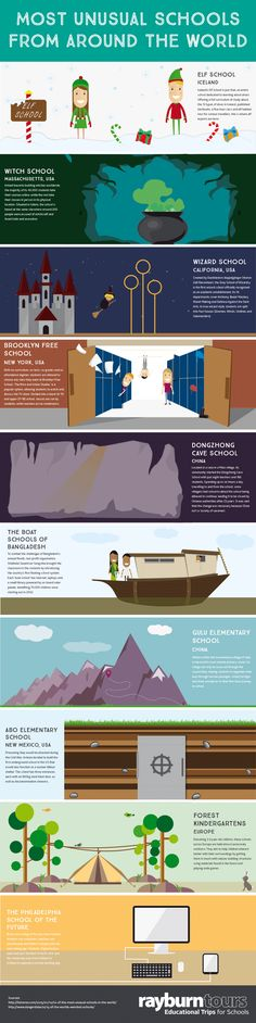 10 Most Unusual Schools #infographic #Education #Travel