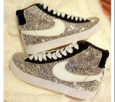 Get these shoes on @Wheretoget or see more #shoes #sparkle #nike_blazer_mid #nike_air_max