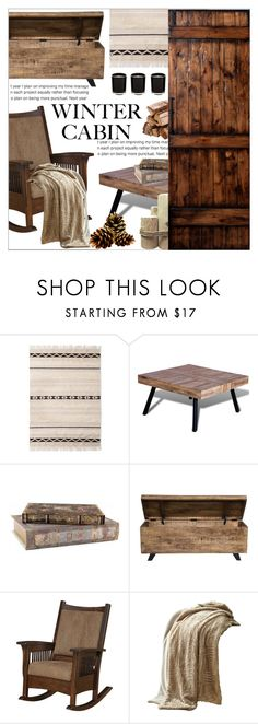 """WINTER CABIN"" by celine-diaz-1 ❤ liked on Polyvore featuring interior, interiors, interior design, home, home decor, interior decorating, Kosas Collections, DutchCrafters and Amrapur"