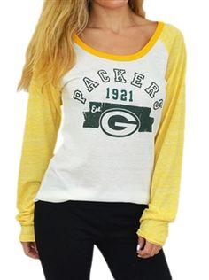Green Bay Packers Womens Wideneck Raglan Tee by Alyssa Milano 8ee5b20ad