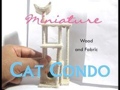 Cat Condo, Cat Tree Dollhouse Miniature - YouTube