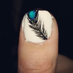 Peacock feather nail
