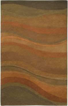$5 Off when you share! Rizzy Rugs Colours CL-1783 Rust Rug | Contemporary Rugs #RugsUSA