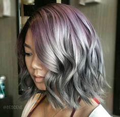lavender+to+silver+ombre+bob