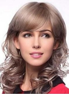 Charming Medium Curly Capless Synthetic Wig 14 Inches