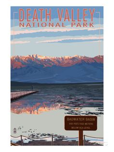 Badwater - Death Valley National Park Prints by Lantern Press at AllPosters.com