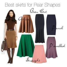 """""""Best Skirts For Pear Shapes"""" by elsasima on Polyvore"""
