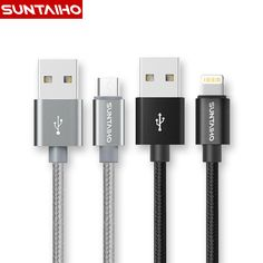 Suntaiho 1M/2M/3M Nylon Metal Micro USB Cable Fast Charg 5V/2.1A /8pin USB Cable for iPhone 6 6s Plus 5s 5 iPad mini / Samsung ** Locate the offer simply by clicking the VISIT button