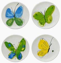 Vera Neumann papillion dream canape plates