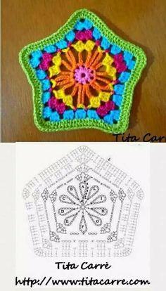 Pentagono crochet patron