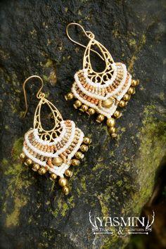 macrame earring by yasmin