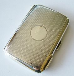 Lady's antique silver cigarette case A&J by VintageWatchCo on Etsy, £75.00