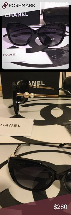 New Auth Polarized Chanel Sunglasses  New never worn Chanel Pearl sunglasses from 2015/2016 line. Comes with box, case and cloth. Cloth unopened has Chanel logo on it. CHANEL Accessories Glasses