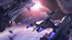 Spaceships by Isaac Hannaford