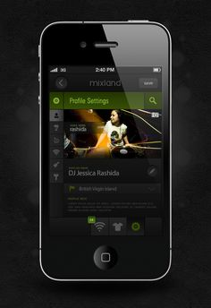 Mixland IPhone App by Fatih Kececi, via #Behance #Mobile #App