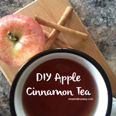 Drink more water with this DIY Apple Cinnamon Tea or Chilled Water