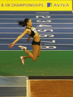 long jump. it takes guts. that's why it's called the hardest event in track and field.<<< truth!! I know because I jump LJ