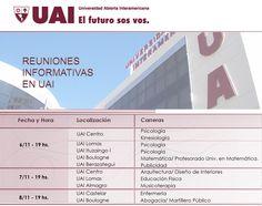 REUNIONES INFORMATIVAS  Hacé tu consulta y conocé cada una de las carreras y cursos de UAI, ingresando en el siguiente link: http://quevasaestudiar.com/estudiar-en-Universidad-Abierta-Interamericana-16