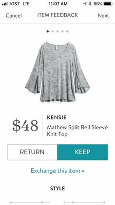 I don't know how I feel about bell sleeves