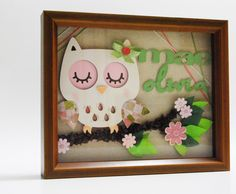 Image detail for -Owl Shadow Box