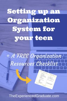 Setting up an organization system for your teen or high school student. All high school students must have an organization system in place for all their school related documents. Study organization. Homework organization. Notes Organization. Free checklist included!