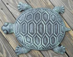 Iron Turtle Stepping Stone Walkway Turtles Stepping Stones Landscaping Garden | eBay