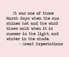 I love it when the sun is warm but the air is cool! Charles Dickens summarized it perfectly.