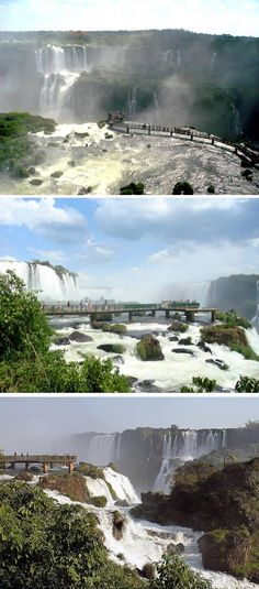 Suspended platform at Iguazu Falls (Brazil and Argentina) - The viewing platform is so close you are instantly drenched by spray and deafened by the roar of water plunging over an 80 metre cliff. -  http://www.oddee.com/item_96703.aspx#v3rIdFwvA3kLF3fj.99