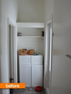Before & After: A Mudroom Goes Miniature