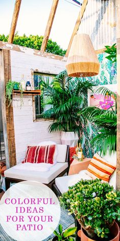 Colorful patios