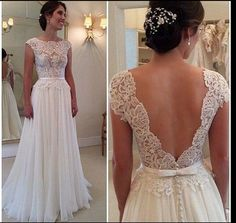 Deep V-Cut Lace Chiffon Wedding Dress Boho Wedding Dress Copy and Paste this in the notes at checkout and fill it in . The measurements I need to