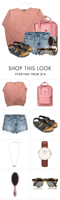 """""""Own who you are"""" by flroasburn ❤ liked on Polyvore featuring American Apparel, Fjällräven, Madewell, Birkenstock, Kendra Scott, Daniel Wellington, Topshop and Illesteva"""