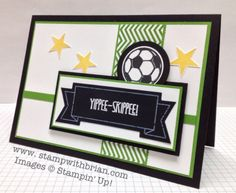Yippee-Skippee, Great Sport, Simply Stars, Stampin' Up! Boy Cards, Kids Cards, Birthday Cards For Boys, Male Birthday, Birthday Kids, Happy Birthday, Card Tags, I Card, Hexagon Cards
