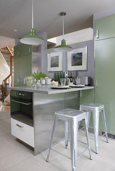 Green Kitchen Design - Contemporary - kitchen - Para Paints Outside Influence - Sarah Richardson Design