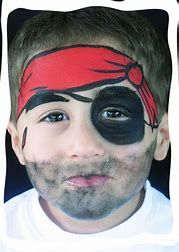 Easy Face Painting Ideas For Kids Facepainting Face Painting Easy Pirate Face Paintings Kids Face Paint