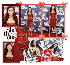 """""""Nina Dobrev at Mtv Movie Awards 2011"""" by elenadobrev90 ❤ liked on Polyvore featuring jared, Chantecaille, MAC Cosmetics, Promise Shoes, Bond No. 9 and John Lewis"""