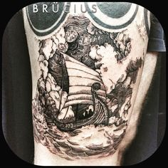 #BRÜCIUS #TATTOO #SF #SanFrancisco #brucius #natural #science #engraving #etching #sculptoroflines #dotwork I#blackwork #penandink #lines #nature #viking #boat #constellation #storm  (at Brücius)