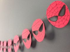 Super cute Spider-Man birthday garland OR décor for nursery/toddler room. Easy DIY but these are cute on ETSY too.