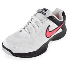The Nike Women's Air Cage Court Tennis Shoes offer a ultra lightweight build and cushioning so you are light on your feet. The super breathble upper utilizes Nike's breathe tech technology for superior comfort, support and ventilation. The Air-sole unit in heel provides impact protection.Upper: #aircagecourt #nike #tennisshoes