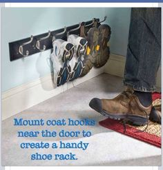 Good way to keep shoes in one place. Nice for mud rooms.