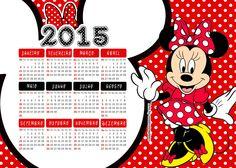 Calendário 2015  Minnie vermelha tradicional