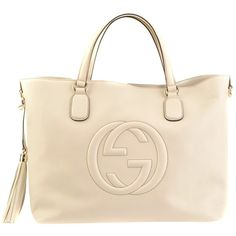 Gucci Ecru Shopper Soho ($1,440) ❤ liked on Polyvore featuring bags, handbags, tote bags, borse, purses, bolsas, women, gucci tote bag, hand bags and shopping tote