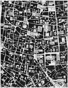 Roma, Giambattista Nolli, Nolli Plan of Rome, RM Villa Architecture, Architecture Drawings, Urban Mapping, Urban Design Plan, Urban Analysis, Urban Fabric, Map Design, Design Ideas, City Maps