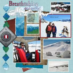 Disney Scrapbook Layout - Arrival at Base Camp by Sharon