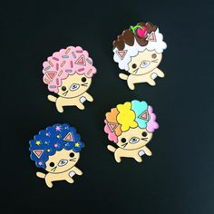 We love Bored Inc, the mother and daughter team behind these super kawaii pins!Limited Edition Afro Cat pins25mm, soft enamel with rubber clutch