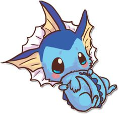 Vapreon looking kawaii. Baby Pokemon, Pokemon Go, Kawaii Anime, Kawaii Chibi, Cute Animal Drawings, Kawaii Drawings, Fotos Do Pokemon, Pokemon Mignon, Cute Pokemon Pictures