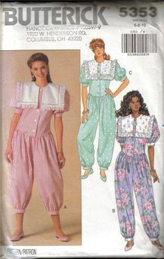oh how embarrassing! i remember wearing something like this to bed as a kid but mine was red and white floral pattern!!!Butterick Sewing Patterns