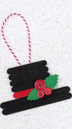 christmas crafts & christmas crafts & christmas crafts for kids to make & christmas crafts for kids & christmas crafts for toddlers & christmas crafts diy & christmas crafts for gifts & christmas crafts for adults & christmas crafts for kids to make easy Easy Christmas Ornaments, Christmas Art, Handmade Christmas, Snowman Ornaments, Christmas Decorations Diy For Kids, Popsicle Stick Christmas Crafts, Ornaments Ideas, Christmas Crafts For Kids To Make, Childrens Christmas Crafts