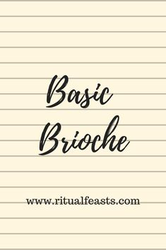 Brioche is rich and buttery. It makes great French toast, bread and butter pudding, with pâté and is fantastic just on it's own. Bread And Butter Pudding, Bread Recipes, French Toast, Brioche