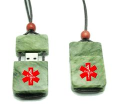 Key2Life USB Medi-Chip Jade Necklace